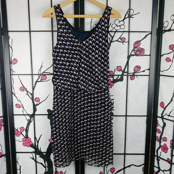 Marc By Marc Jacobs Dresses & Skirts - Marc Jacobs Devore Velvet Dress Puzzle Print Silk